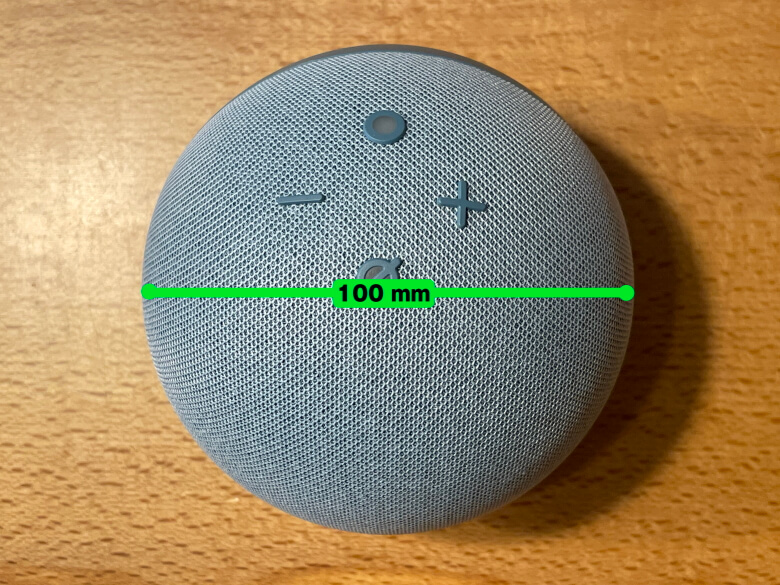 Amazon Echo Dot 第4世代 直径