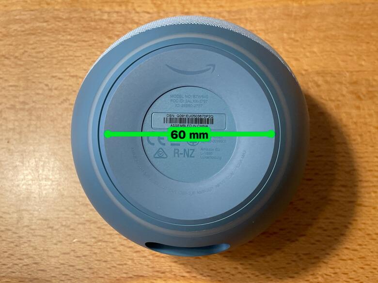 Amazon Echo Dot 第4世代 底面直径