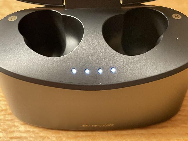 radius HP-V700BT 充電ケースインジケーター
