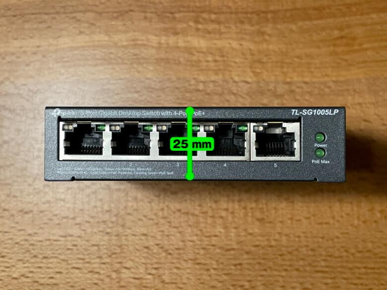 TP-Link TL-SG1005LP 厚さ