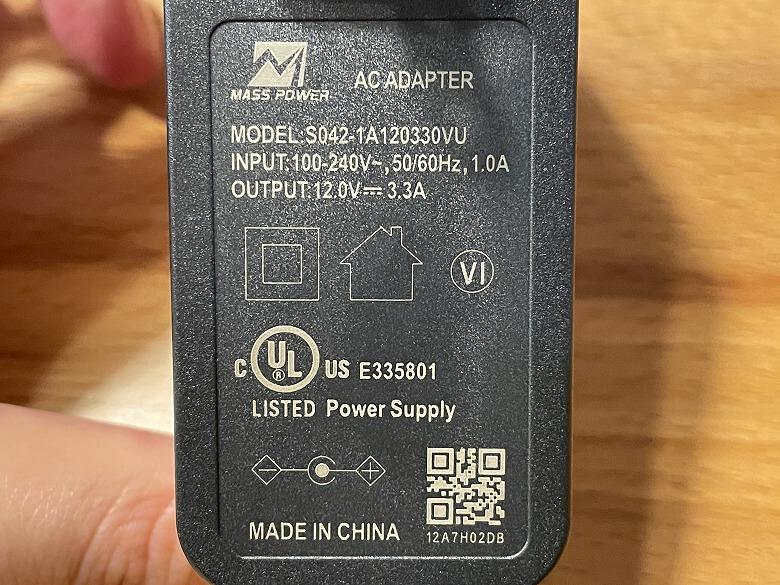 Archer AX90 電源アダプター仕様
