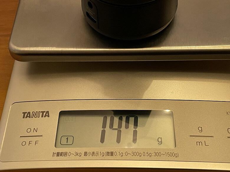 OBSBOT Tiny 重さ