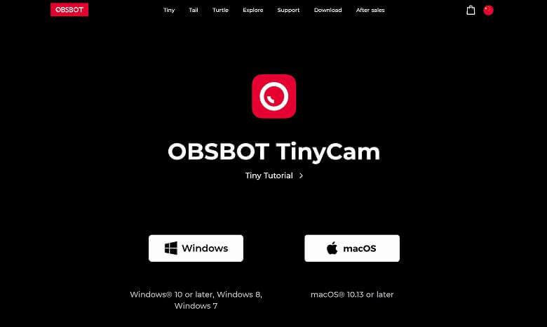 OBSBOT Tiny 公式サイト